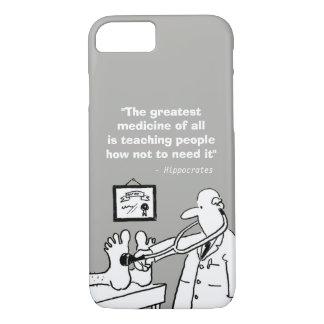 Coque iPhone 8/7 Citation médicale inspirée et image drôle