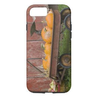 Coque iPhone 8/7 Citrouilles dans le vieux chariot
