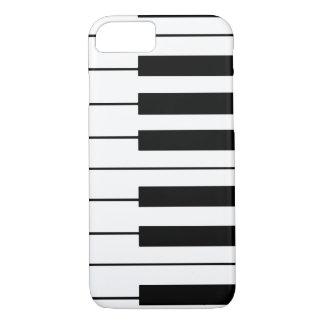 Coque iPhone 8/7 clés musique-orientées de piano