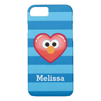 Coque iPhone 8/7 Coeur | d'Elmo votre nom