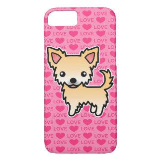 Coque iPhone 8/7 Coeurs d'amour de manteau de faon de chiwawa longs