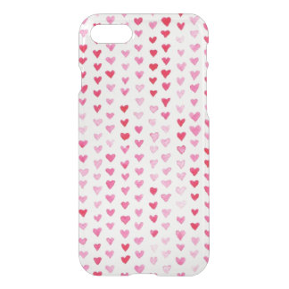 Coque iPhone 8/7 Coeurs d'aquarelle