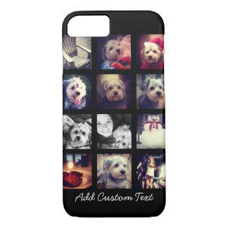 Coque iPhone 8/7 Collage de photo avec l'arrière - plan noir
