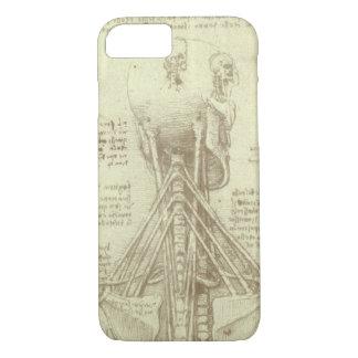 Coque iPhone 8/7 Colonne vertébrale d'anatomie humaine par Leonardo