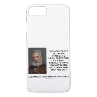 Coque iPhone 8/7 Concentrez toutes vos pensées sur la citation de