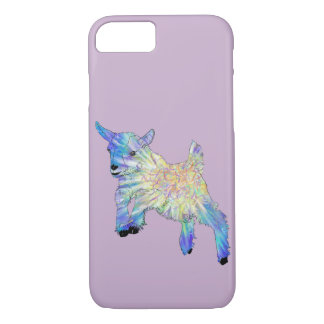 Coque iPhone 8/7 Conception animale drôle d'art de chèvre mignonne
