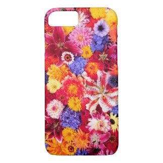 Coque iPhone 8/7 Conception de fleur de Dalhia, lis orientaux,