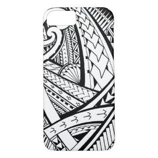 Coque iPhone 8/7 Conception tribale Samoane de tatouage avec des