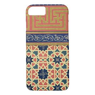 Coque iPhone 8/7 Conceptions décoratives arabes (litho de couleur)