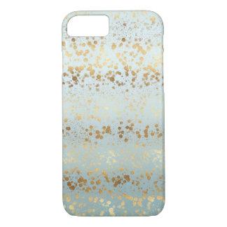 Coque iPhone 8/7 Confettis d'Ombre d'or d'Aqua