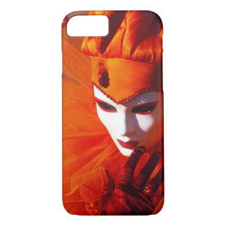 Coque iPhone 8/7 Costume orange de harlequin - carnaval de Venise