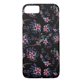 Coque iPhone 8/7 Couche florale avec fond foncé