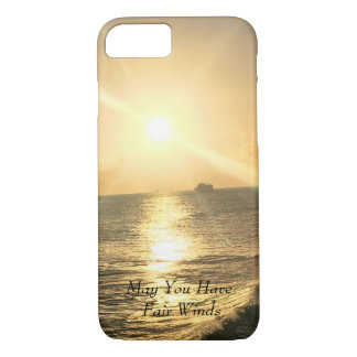 Coque iPhone 8/7 Coucher du soleil tropical avec de belles couleurs