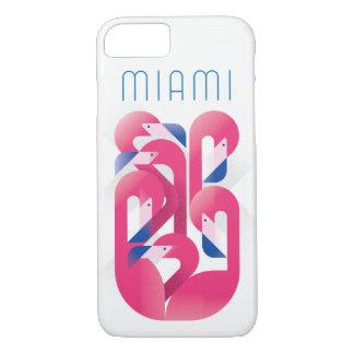 Coque iPhone 8/7 Couleur de flamant de Miami