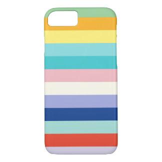 Coque iPhone 8/7 Couleurs horizontales de rayures au printemps