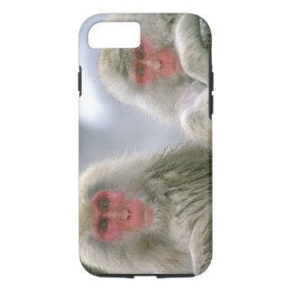 Coque iPhone 8/7 Couples de singe de neige, Macaque japonais,
