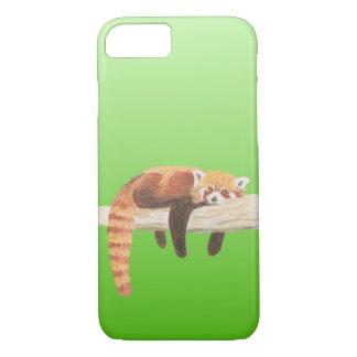 Coque iPhone 8/7 Couverture de téléphone de panda rouge