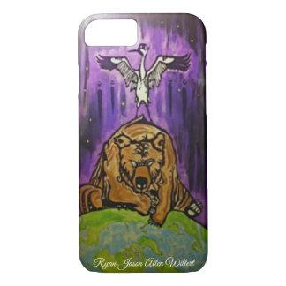 Coque iPhone 8/7 Couverture de téléphone d'ours de grue