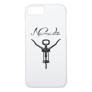 Coque iPhone 8/7 Couverture d'iPhone de tire-bouchon de Namaste