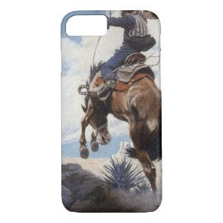 Coque iPhone 8/7 Cowboys occidentaux vintages, s'opposant par OR