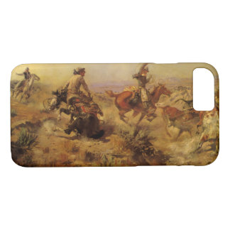 Coque iPhone 8/7 Cowboys vintages, lancés vers le bas par cm