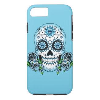 Coque iPhone 8/7 Crâne bleu de sucre