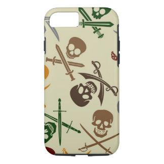 Coque iPhone 8/7 Crânes de pirate avec les épées croisées