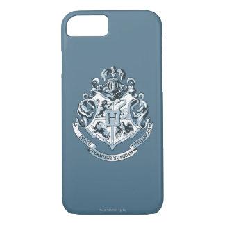 Coque iPhone 8/7 Crête de Harry Potter | Hogwarts - bleu