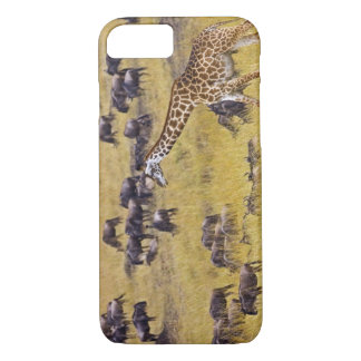 Coque iPhone 8/7 Croisement de la rivière de Mara par des girafes
