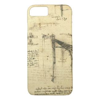 Coque iPhone 8/7 Croquis à ailes de machine de vol par Leonardo da