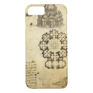 Coque iPhone 8/7 Croquis architectural par Leonardo da Vinci