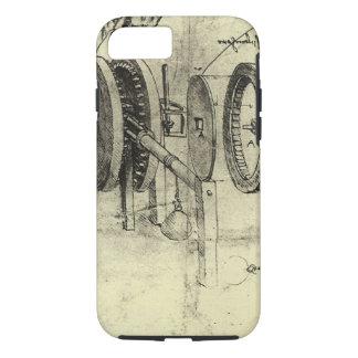 Coque iPhone 8/7 Croquis d'ingénierie d'une roue par Leonardo da