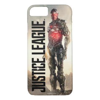 Coque iPhone 8/7 Cyborg de la ligue de justice | sur le champ de