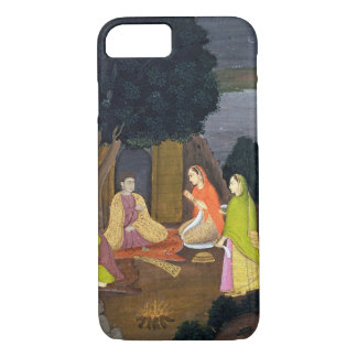 Coque iPhone 8/7 Dames visitant un Yogini, école de Faqurullah Kha