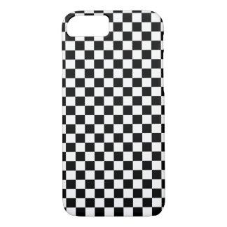 Coque iPhone 8/7 Damier blanc noir