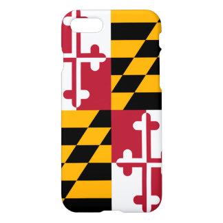 Coque iPhone 8/7 Décor élégant de drapeau d'état du Maryland