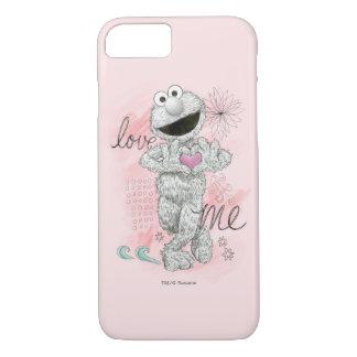 Coque iPhone 8/7 Dessin de croquis d'Elmo B&W