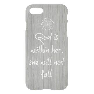 Coque iPhone 8/7 Dieu est chez elle, elle ne tombera pas vers de