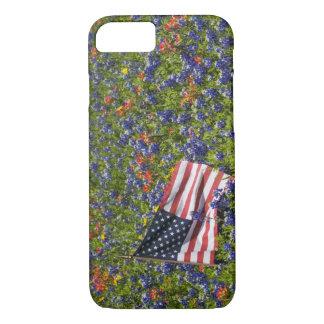 Coque iPhone 8/7 Drapeau américain dans le domaine des capots