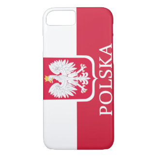 Coque iPhone 8/7 Drapeau blanc de Polska Eagle