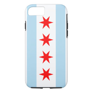 Coque iPhone 8/7 Drapeau de Chicago - cas d'Iphone 7 (cas dur)