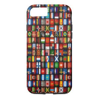 Coque iPhone 8/7 Drapeaux du cas de l'iPhone 7 du monde