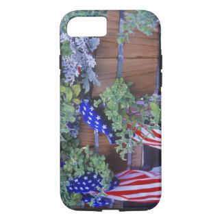 Coque iPhone 8/7 Drapeaux et fleurs dans Philipsburg Montana
