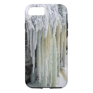 Coque iPhone 8/7 Eaux souterraines de glace et bleues coulées ;