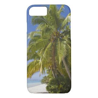 Coque iPhone 8/7 Échouez sur une île de pied, Aitutaki, îles Cook