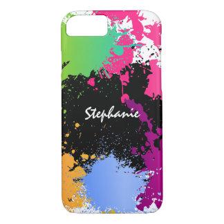 Coque iPhone 8/7 Éclaboussure de couleur personnalisée
