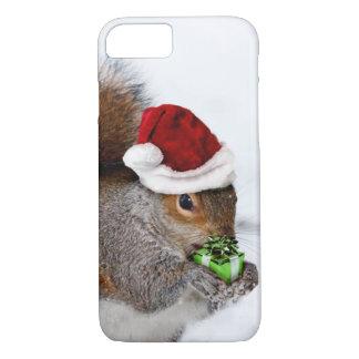 Coque iPhone 8/7 Écureuil de Noël