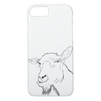 Coque iPhone 8/7 Élégant conception animale chèvre drôle d'art de