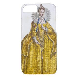 Coque iPhone 8/7 Elizabeth I (1530-1603) (gravure colorée)