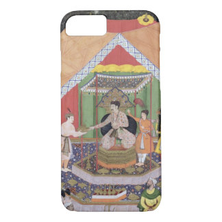 Coque iPhone 8/7 Empereur Akbar (r.1556-1605) amusé par son fos